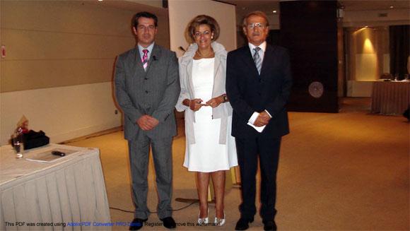 Η  κ. Ωρολογά, Διευθύνουσα  Σύμβουλος της Μινέρβα Φαρμακευτικής  Α.Ε., ο Β.Τερζίογλου,  Γ. Δ/ντης  της Insure Agents Professionals και ο Υποδ/ντης Πωλήσεων των Ομαδικών Ασφαλίσεων της Ευρωπαϊκής  Πίστης Β. Κανέλλος.