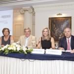 Το πάνελ των ομιλητών. Από αριστερά : η κ. Μ. Αντωνάκη, Γεν. Διευθύντρια ΕΑΕΕ, ο κ. Ν. Κανελλόπουλος, Γ.Γ. Υπουργείου Δικαιοσύνης, η κ. Ν. Σταυρογιάννη, Πρόεδρος της Επιτροπής Νομικής Προστασίας της ΕΑΕΕ και ο κ. Γ. Καραβίας, Πρόεδρος ΣΕΜΑ