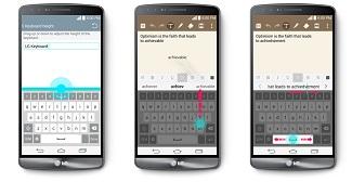 LG G3 - Smart Keyboard feature