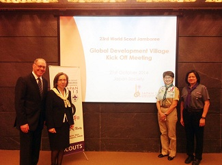 RSI President with the WOSM Global PRojects Director Mr Peter Illig_ World Scout Bureau
