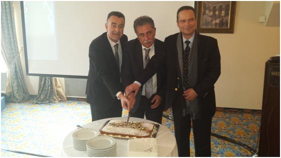 (από δεξιά) Οι κ. Νικόλαος Στρατηγάκης, Βασίλης Καραθάνος & Δημήτρης Αναστασίου.