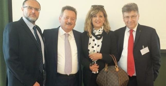 (από αριστερά) Οι κ.κ. Κ. Καστανάκης, Τ. Παπαδόπουλος, Γ. Νικολοπούλου και Λ. Αποστολιώτης.
