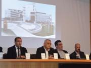 (Από αριστερά) Οι κ. Γ. Μπασδάνης, Α. Ανδρέου, Χρ. Ευθυμιάδης, Α. Σιούτας, Απ. Λαμπανάρης, Α. Μπέκος.