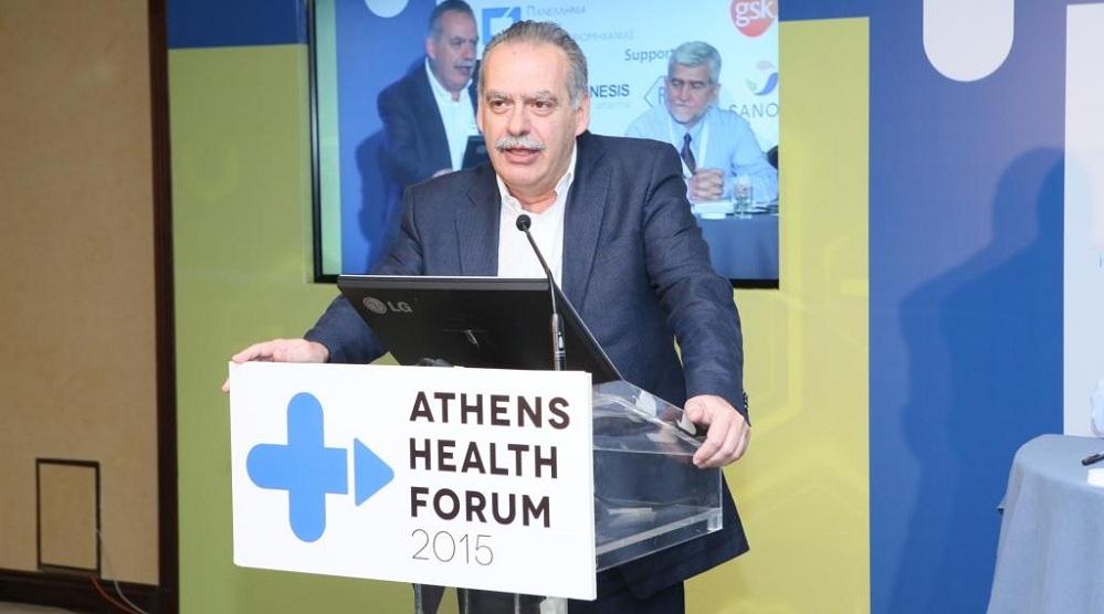 Ο Ι. Μπασκόζος, Γενικός Γραμματέας Δημόσιας Υγείας.