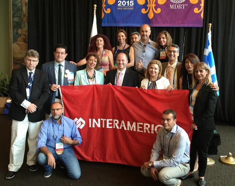H αποστολή των Συνεργατών της INTERAMERICAN στο Συνέδριο του MDRT, στη Νέα Ορλεάνη.