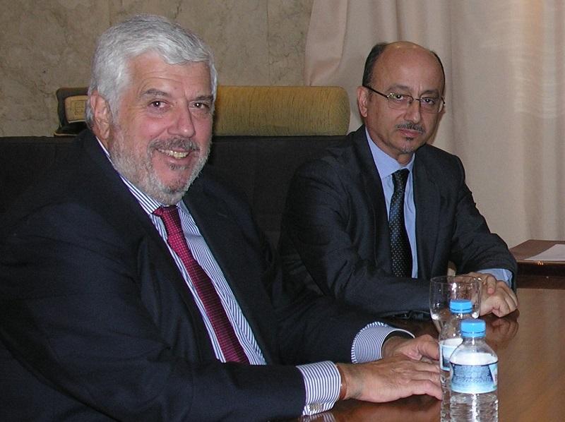 Ο Γιώργος Κώτσαλος, Διευθύνων Σύμβουλος και ο Γιάννης Ρούντος, Διευθυντής Δημοσίων Σχέσεων & ΕΚΕ της ΙΝΤERAMERICAN.