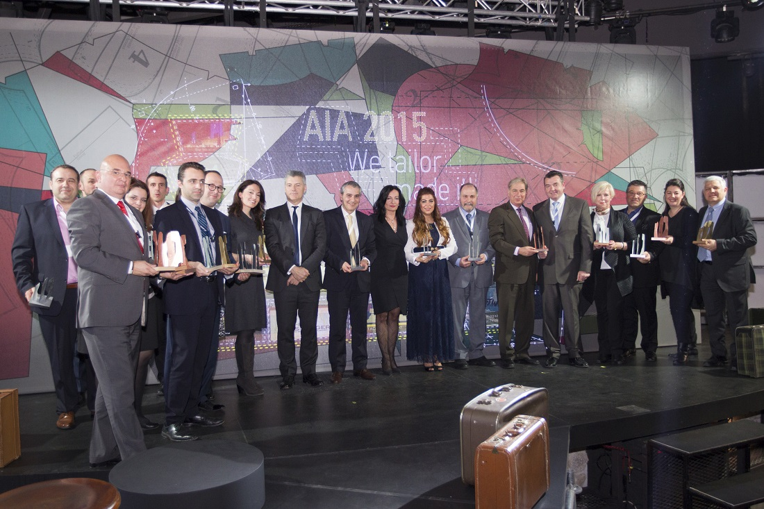 Οι εκπρόσωποι των αεροπορικών εταιρειών που βραβεύτηκαν στο 16ο Συνέδριο Μάρκετινγκ Αεροπορικών Εταιρειών του ΔΑΑ.
