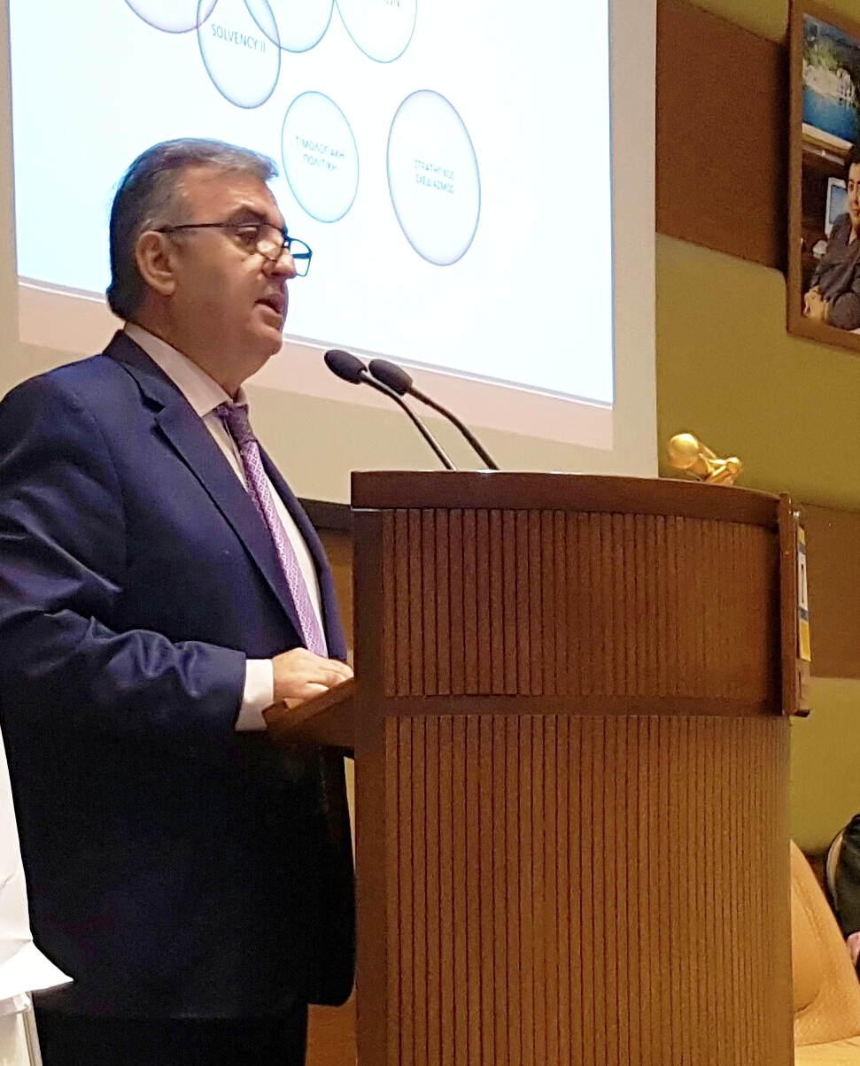 ο Γενικός Διευθυντής της Συνεταιριστικής Ασφαλιστικής κ. Δημήτριος Ζορμπάς