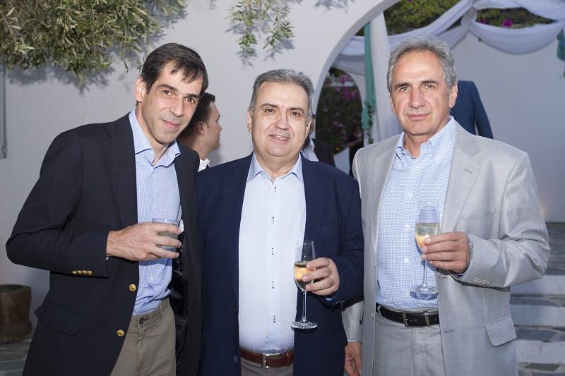 Οι κ.κ. Ε. Μοάτσος, Δ. Ζορμπάς και Ι. Χατζηϊωσήφ