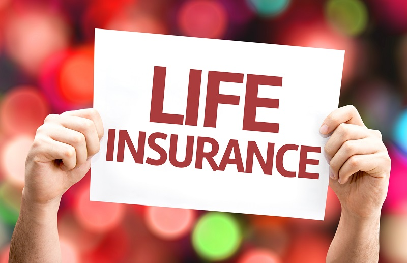 Life Insurance card with colorful background