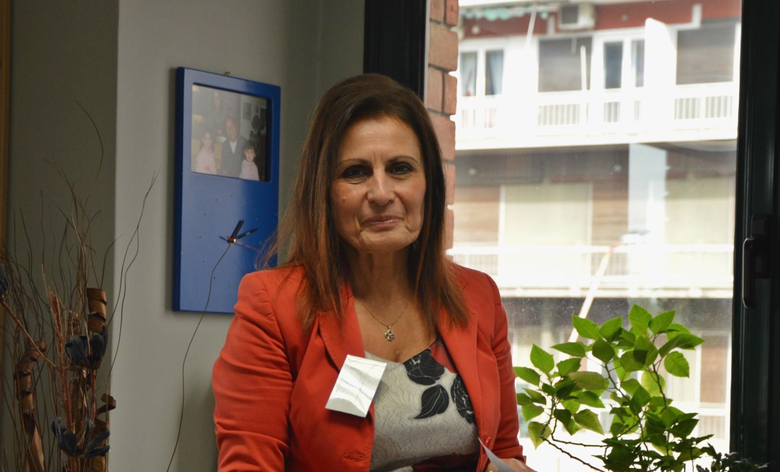 Η κ. Θεοδοσία Νάνου, Ομαδάρχης & υπεύθυνη για τον γραφείο της Επιθεώρησης Φουφόπουλου στο νομό Μαγνησίας