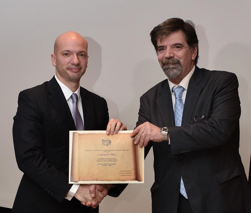 Allianz Α.Ε.Δ.Α.Κ: Βράβευση για τις υψηλές αποδόσεις των Α/Κ το 2016