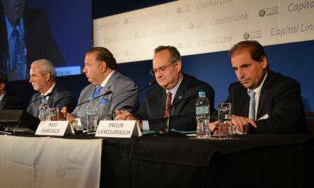 Απο αριστερά:οι κ.κ. John Calamos, John Koudounis, Matt Fairfield και Παύλος Κανελλόπουλος