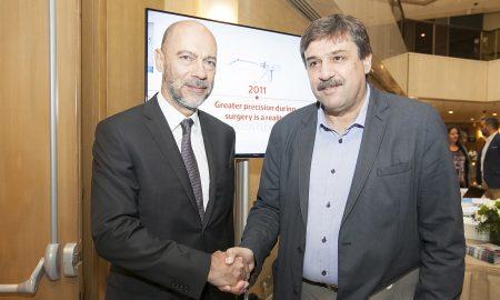 Ο Πρόεδρος του Ελληνο-Αμερικανικού Εμπ. Επιμελητηρίου κ. Σίμος Αναστασόπουλος με τον Υπουργό Υγείας κ. Ανδρέα Ξανθό