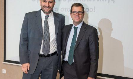 Αντώνης Βουκλαρής, Διευθύνων Σύμβουλος Ομίλου Ευρωκλινικής,, Νίκος Δελένδας, Γενικός Διευθυντής Πωλήσεων & Εκπαίδευσης Eurolife ERB Aσφαλιστική