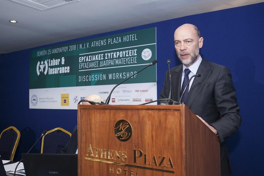 Ο Πρόεδρος του Ελληνο-Αμερικανικού Εμπορικού Επιμελητηρίου κ. Σίμος Αναστασόπουλος
