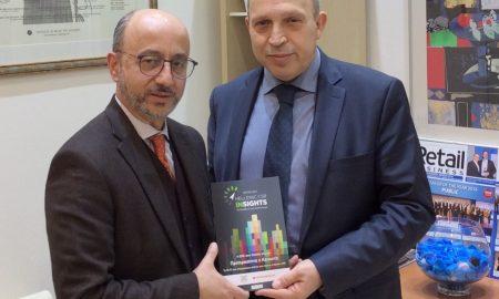 Ο Βαγγέλης Παπαλιός, εκδότης της Direction Business Network με τον Γιάννη Ρούντο, διευθυντή εταιρικών σχέσεων και υπευθυνότητας της INTERAMERICAN