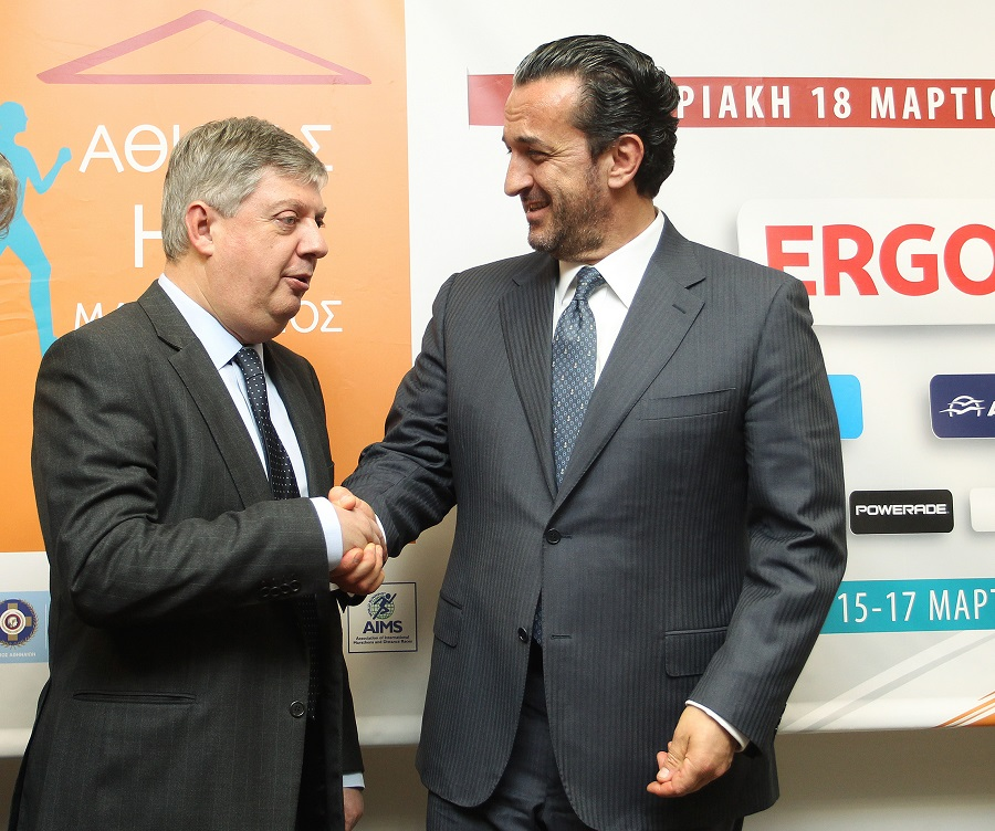 ο Πρόεδρος του ΣΕΓΑΣ κ. Κώστας Παναγόπουλος μαζί με τον CEO της ERGO κ. Θεόδωρο Κοκκάλα