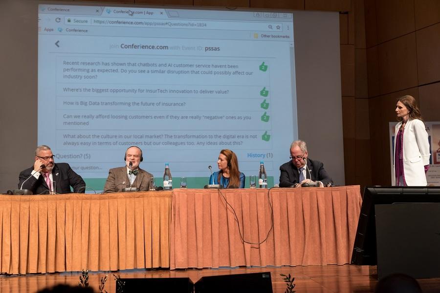 (από αριστερά) Athan P. Vorilas, Joe Jordan, Kari Stringfellow, Gary H. Schwartz & η Φανή Θεοφανίδου