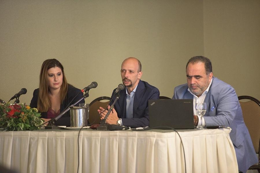 (Από αριστερά) Φωτεινή Δημοπούλου, Ιωάννης Μακρυπούλιας & Μάνος Σφακιανάκης