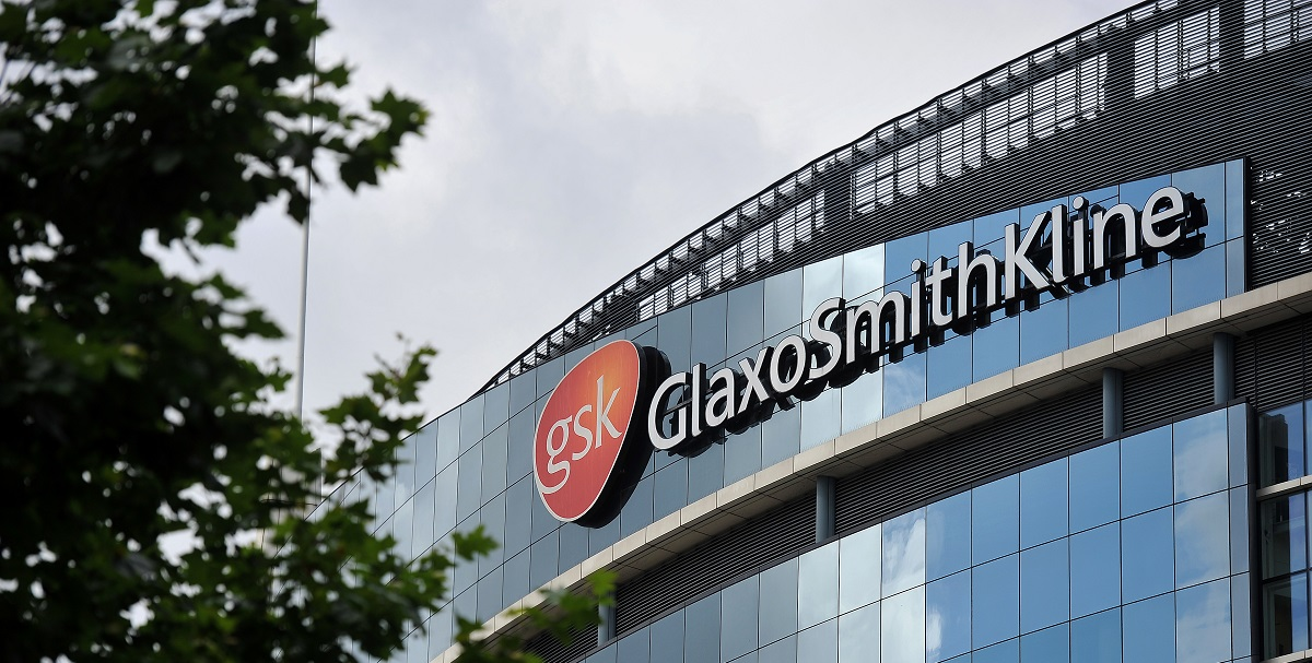 The headquarters of pharmaceutical company GlaxoSmithKline is pictured in west London on July 29, 2013. AFP PHOTO / BEN STANSALL (Photo credit should read BEN STANSALL/AFP/Getty Images)
