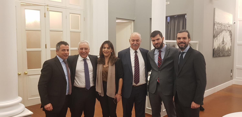 (από αριστερά) Χρ.Μαδιάς, Δ. Διβανής, Β. Αθανασάκη, Χρ. Σοφός, Θρ. Σοφός & Γ. Σοφός