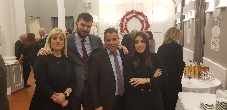 (από αριστερά) Κ. Αργυροπούλου, Θρ. Σοφός, Χρ. Μαδιάς & Μ. Χριστοδουλοπούλου