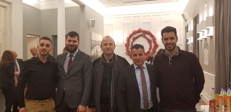 (από αριστερά) Αλ. Κοράκης, Θρ. Σοφός, Δ. Καλλιαμβάκος, Χρ. Μαδιάς & Μ. Δριβίλας