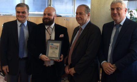 (από αριστερά) Οι κ.κ. Γιώργος Πρωτόπαπας, Κωνσταντίνος Σουρίκας, Χριστόφορος Σαρδελής και Σταύρος Κωνσταντάς
