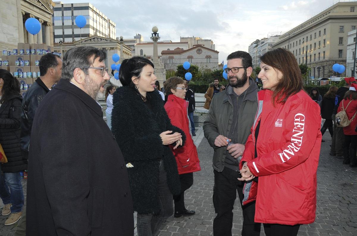 Η κ. Μαρία Λαμπροπούλου, Διευθύντρια Marketing & Eπικοινωνίας της Generali με τον κ. Κανάκη Νικήτα, Πρόεδρο των Γιατρών του Κόσμου