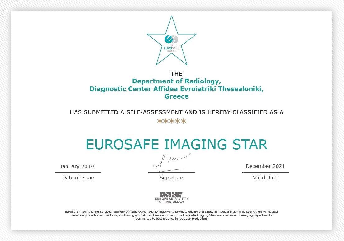 certificate Eurosafe_Affidea Thessaloniki