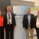(από αριστερά) Στέλλα Δήμου, στέλεχος πωλήσεων ομαδικών ασφαλίσεων της INTERAMERICAN, Morten Unneberg, διευθύνων σύμβουλος της INSUROPE, Γιώργος Πλωμαρίτης, διευθυντής ομαδικών ασφαλίσεων και corporate business της INTERAMERICAN, Kris Vanmuster, regional director Southern EMEA and CEE