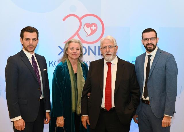 (Από αριστερά) Ο Δρ. Βασίλης Αποστολόπουλος, η κ. Τιτή Αποστολοπούλου, ο Δρ. Γεώργιος Αποστολόπουλος και ο κ. Χρήστος Αποστολόπουλος