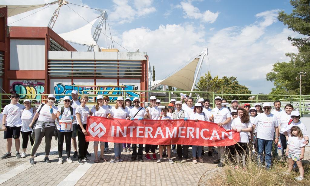 Εθελοντική δράση εργαζομένων της INTERAMERICAN  στο Πάρκο «Αντώνης Τρίτσης»