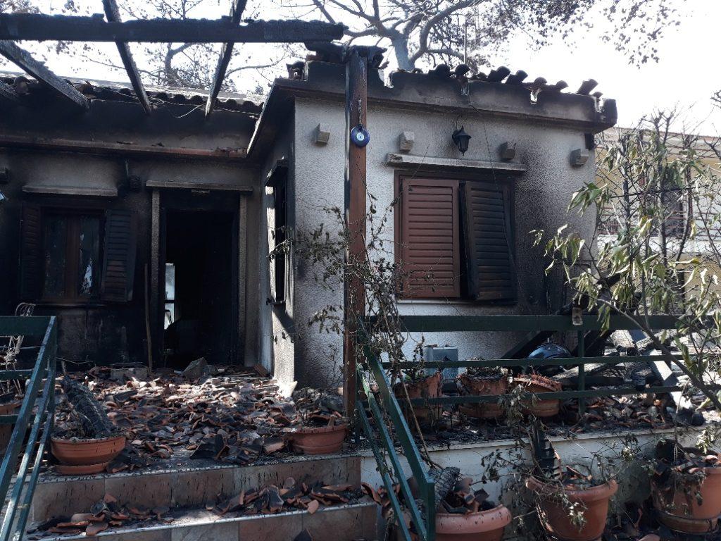 Κατοικία μετά την πυρκαϊά στην Ανατολική Αττική, που αποζημίωσε η INTERAMERICAN