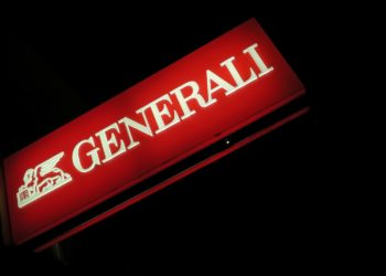 A banner with a logo of Generali insurance is seen outside of one of its branch offices in Telfs, Austria, November 1, 2016.  REUTERS/Leonhard Foeger - RTX2T86A