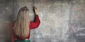 woman-in-red-long-sleeve-writing-on-chalk-board-insurancedaily