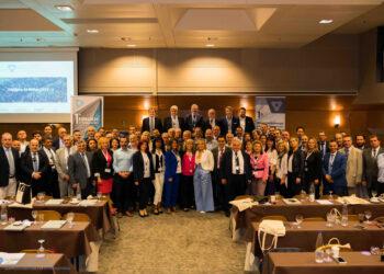 Η φωτογραφία αποτελεί στιγμιότυπο από την 1η Εθνική Συνδιάσκεψη που πραγματοποιήθηκε το 2019