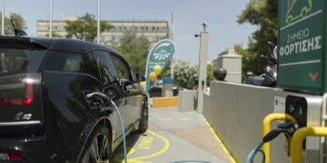 Electric car BMW demostration at Groupama Hellas. Photography: Pantelis Ladas http://ldspro.net