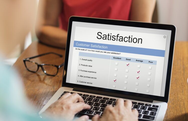 Online satisfaction rating