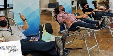 Ευρωπαϊκή Πίστη: Δίπλα στην κοινωνία με τη διενέργεια της 39ης Εθελοντικής Αιμοδοσίας
