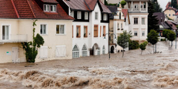 floods and flooding the streets in steyr, austria; Shutterstock ID 129205175; purchase_order: AZCOM